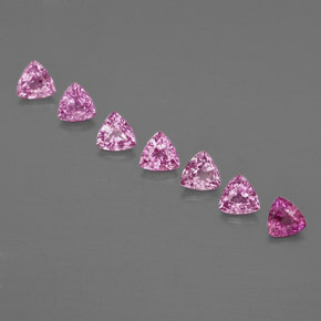 Medium Pink Sapphire Gem - 0.3ct Trillion Facet (ID: 363600)
