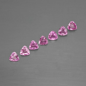 Purple Pink Sapphire Gem - 0.2ct Trillion Facet (ID: 363603)