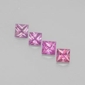 Purple Pink Sapphire Gem - 0.5ct Princess-Cut (ID: 366735)
