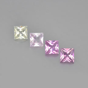Multicolor Sapphire Gem - 0.5ct Princess-Cut (ID: 366742)