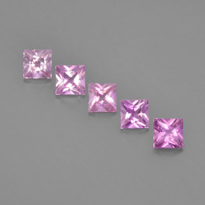 Purple Pink Sapphire Gem - 0.3ct Princess-Cut (ID: 366780)