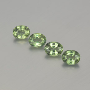 Green Sapphire Gem - 0.5ct Oval Facet (ID: 367675)