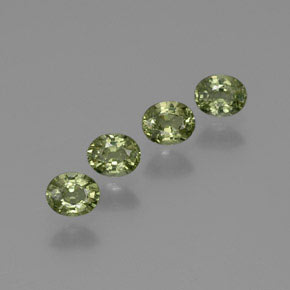 Warm Forest Green Zafiro Gema - 0.5ct Forma ovalada (ID: 367843)