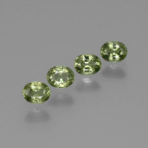 Green Sapphire Gem - 0.5ct Oval Facet (ID: 367848)