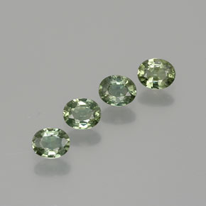 Green Sapphire Gem - 0.4ct Oval Facet (ID: 367912)