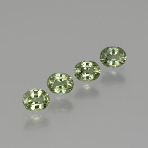 Green Sapphire Gem - 0.5ct Oval Facet (ID: 367916)