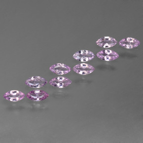 Violet Pink Sapphire Gem - 0.2ct Marquise Facet (ID: 367957)