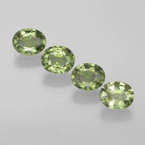 Green Sapphire Gem - 0.5ct Oval Facet (ID: 368606)