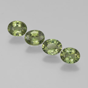 Green Sapphire Gem - 0.4ct Oval Facet (ID: 368613)