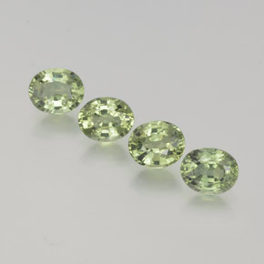 Very Light Green Zafiro Gema - 0.5ct Forma ovalada (ID: 368657)