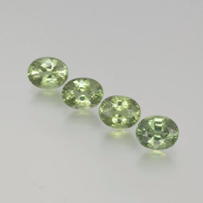 Green Sapphire Gem - 0.5ct Oval Facet (ID: 368665)