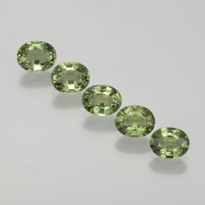 Green Sapphire Gem - 0.4ct Oval Facet (ID: 368771)