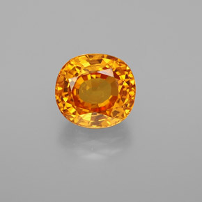 Yellow Golden Sapphire Gem - 3.2ct Oval Facet (ID: 369294)