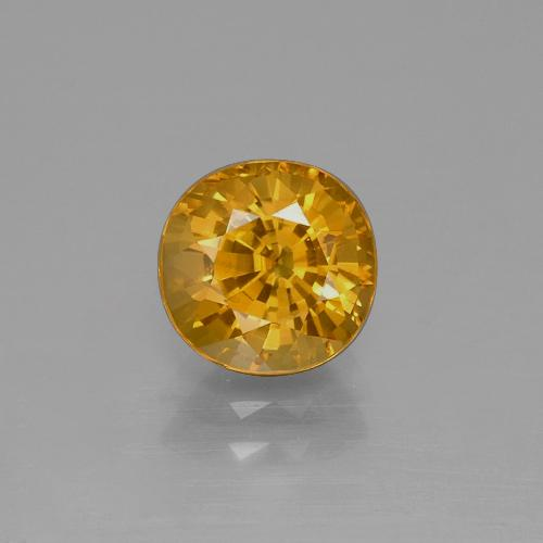 Medium Orange-Gold Sapphire Gem - 2.3ct Oval Facet (ID: 369951)