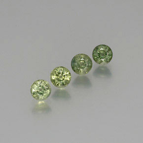 Warm Green Zafiro Gema - 0.6ct Faceta Redonda (ID: 371175)