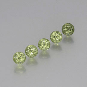 Light Forest Green Zafiro Gema - 0.7ct Faceta Redonda (ID: 371180)