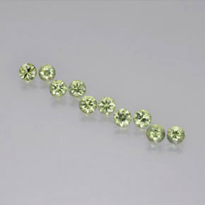 Warm Green Zafiro Gema - 0.4ct Corte Diamante (ID: 371281)