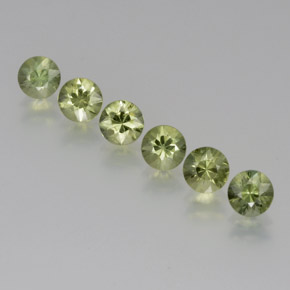 Light Green Sapphire Gem - 0.4ct Diamond-Cut (ID: 371315)