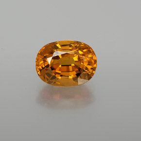 2.68 ct Oval Facet Yellow Golden Sapphire Gemstone 8.89 mm x 6.6 mm (Product ID: 371490)