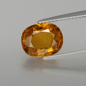 thumb image of 3.1ct Oval Facet Yellow Golden Sapphire (ID: 371495)