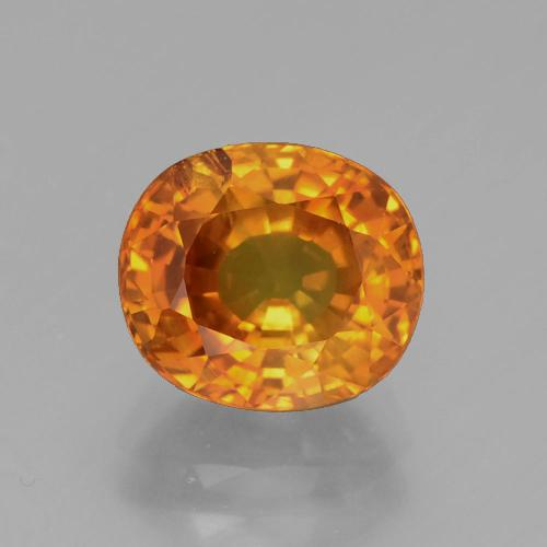 3.06 ct Oval Facet Yellow Golden Sapphire Gemstone 8.42 mm x 7.4 mm (Product ID: 371704)