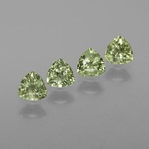 Green Sapphire Gem - 0.5ct Trillion Facet (ID: 372787)