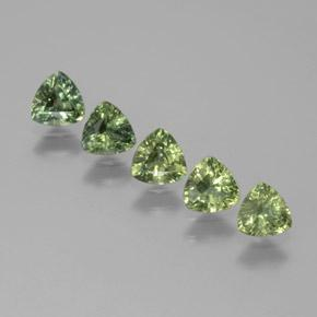 Green Sapphire Gem - 0.3ct Trillion Facet (ID: 372965)