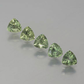 Green Sapphire Gem - 0.4ct Trillion Facet (ID: 373228)