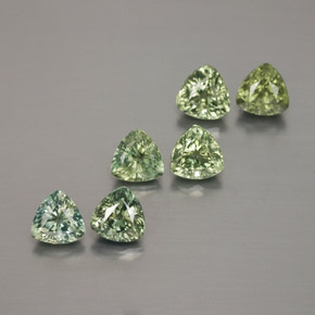 Sage Green Sapphire Gem - 0.4ct Trillion Facet (ID: 373512)