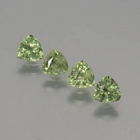 Green Sapphire Gem - 0.4ct Trillion Facet (ID: 373779)