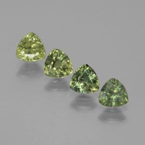Green Sapphire Gem - 0.6ct Trillion Facet (ID: 374028)