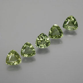 Green Sapphire Gem - 0.6ct Trillion Facet (ID: 374232)
