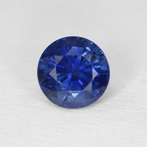 0.9ct Round Facet Royal Blue Sapphire Gem (ID: 374439)
