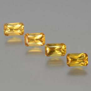 Yellow Golden Sapphire Gem - 0.4ct Octagon / Scissor Cut (ID: 374763)