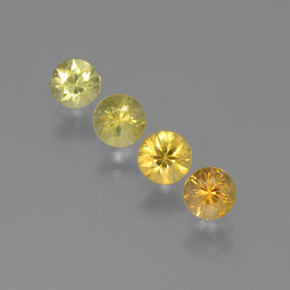 Yellow Golden Sapphire Gem - 0.4ct Diamond-Cut (ID: 375014)
