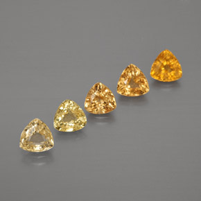 Yellow Golden Sapphire Gem - 0.3ct Trillion Facet (ID: 375205)