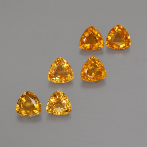 Yellow Golden Sapphire Gem - 0.3ct Trillion Facet (ID: 375231)