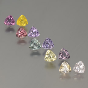 Multicolor Sapphire Gem - 0.3ct Trillion Facet (ID: 375260)