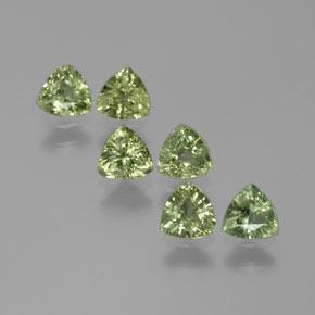Green Sapphire Gem - 0.3ct Trillion Facet (ID: 375296)