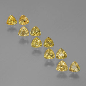 Yellow Golden Sapphire Gem - 0.3ct Trillion Facet (ID: 375324)