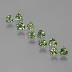 Green Sapphire Gem - 0.2ct Trillion Facet (ID: 375326)