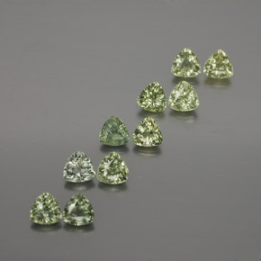 Green Sapphire Gem - 0.2ct Trillion Facet (ID: 375383)