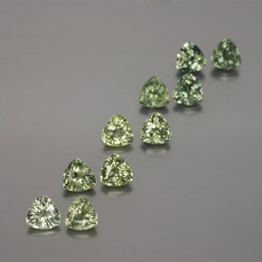 Earthy Green Sapphire Gem - 0.2ct Trillion Facet (ID: 375385)