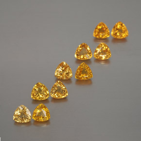 Yellow Golden Sapphire Gem - 0.2ct Trillion Facet (ID: 375387)