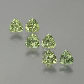 Green Sapphire Gem - 0.4ct Trillion Facet (ID: 375466)