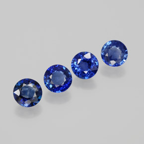 0.45 ct Round Facet Blue Sapphire Gemstone 4.73 mm  (Product ID: 380596)