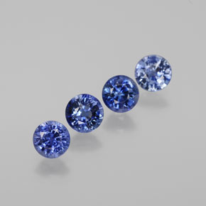 0.48 ct Round Facet Blue Sapphire Gemstone 4.59 mm  (Product ID: 380597)