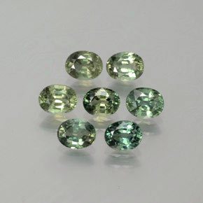 Green Sapphire Gem - 0.4ct Oval Facet (ID: 381767)