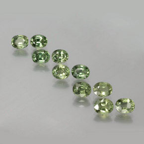 Green Sapphire Gem - 0.5ct Oval Facet (ID: 381772)