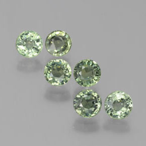 Medium Green Zafiro Gema - 0.6ct Faceta Redonda (ID: 383510)